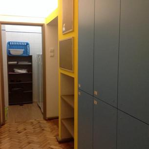 Storage room and hallway