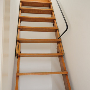 Stairs to upper attic