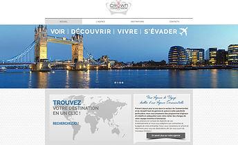 Site internet Crown Luxury Travel