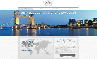 Site internet Crown Luxury Travel