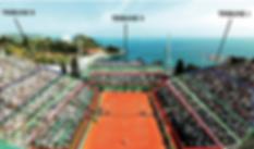 Plans Tribune Masters Tennis Monaco