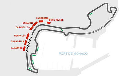 Plan Circuit GP F1 Monaco