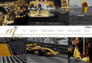 Site internet M Agency Monaco Events