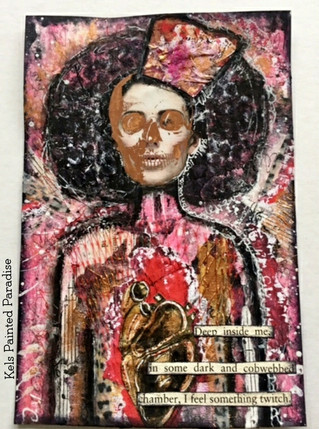 Mixed Media Index Card   Love lost - Valentines