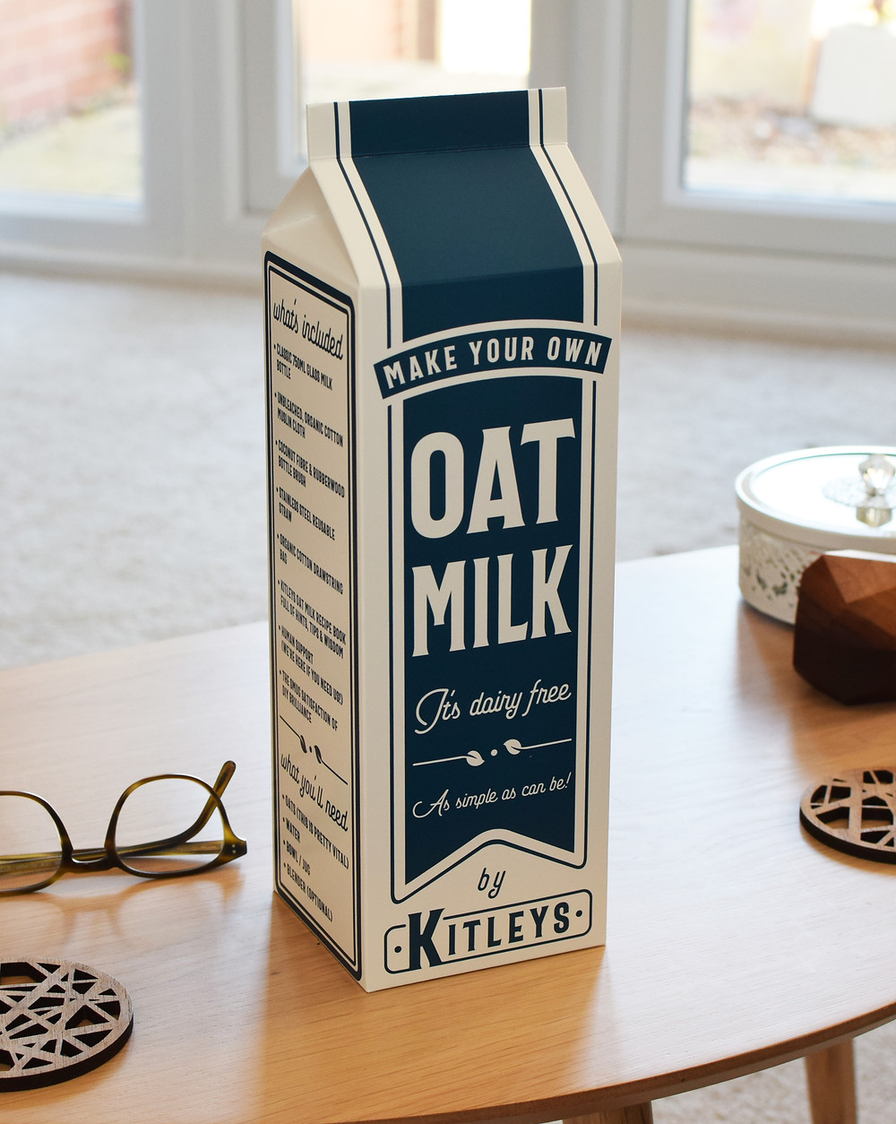 The kitleys oat milk kit, which is plastic free