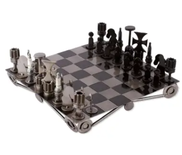 A recycled chessboard from Unicef