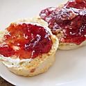 Plain Biscuit w/ Butter & Jam