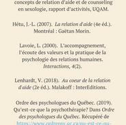 Relation d'aide vs. Psychothérapie (réf.