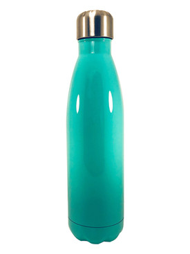 Turquoise Stainless Steel Cola Bottle