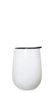 White Stainless Steel Wine Tumbler