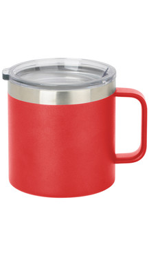 Red Wide Coffee Mug w/ Lid