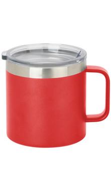 Red Wide Coffee Mug w/ Lid