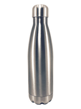 Silver Stainless Steel Cola Bottle