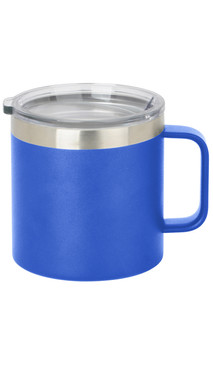 Blue Wide Coffee Mug w/ Lid