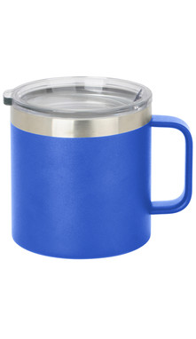 Blue Wide Coffee Mug w/ Lid