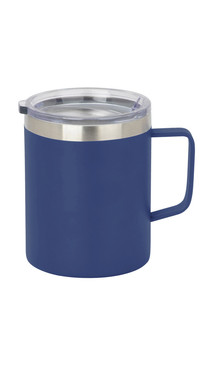 Blue Slim Coffee Mug w/ Lid
