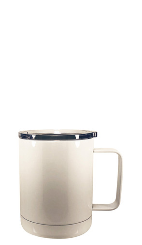 White Lidded Stainless Steel Mug