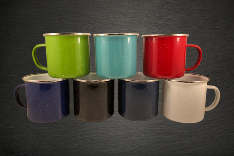 Enamel Dipped Stainless Steel Campfire Mugs