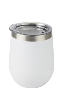White Aster Wine Tumbler