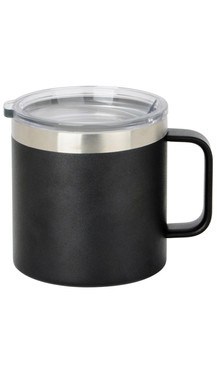 Black Wide Coffee Mug w/ Lid