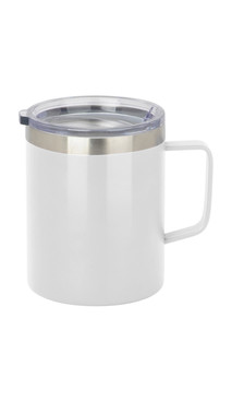 White Slim Coffee Mug w/ Lid
