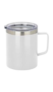 White Slim Coffee Mug w/ Lid