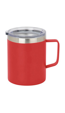 Red Slim Coffee Mug w/ Lid