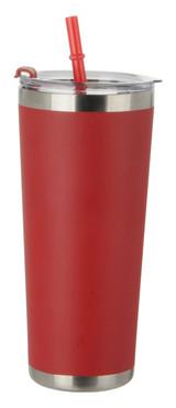 Red Tumbler w/ Straw