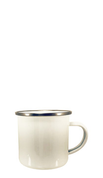 White Stainless Steel Campfire Mug