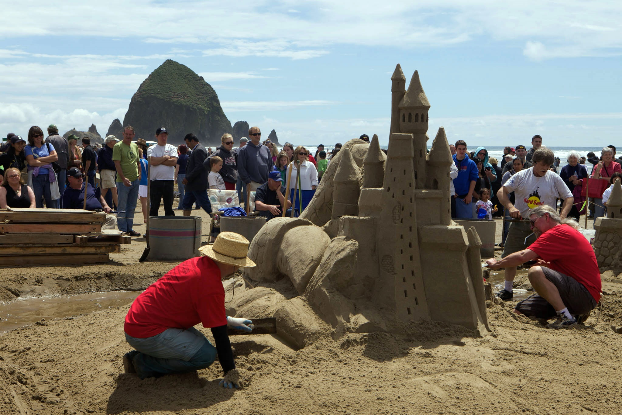 Cannon-Beach sandcastle