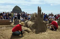 Cannon-Beach sandcastle