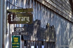 Library-outside-small-sign