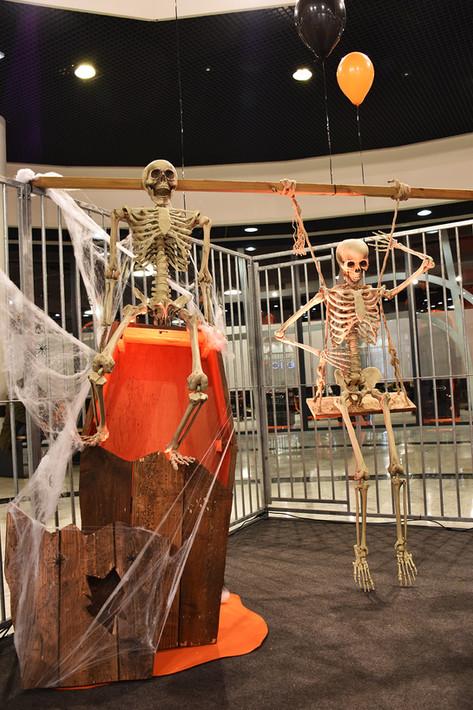 Squelette à l'extérieur de son Cercueil
