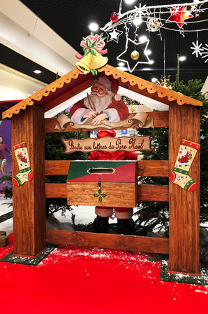 Boîte aux Lettres du Père Noël en Bois