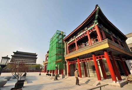 Qianmen during renovation, April 2008 (photo courtesy china.org.cn)