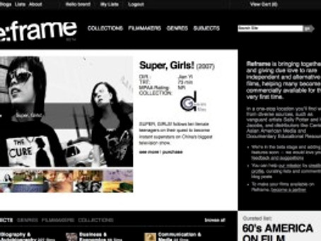 Super, Girls! featured on Reframe's Homepage!