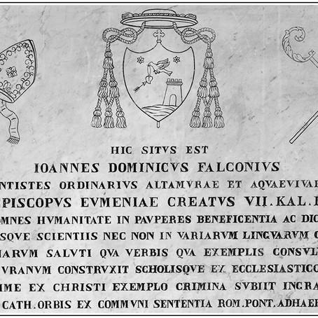 La lapide sepolcrale di Giovanni Domenico Falconi