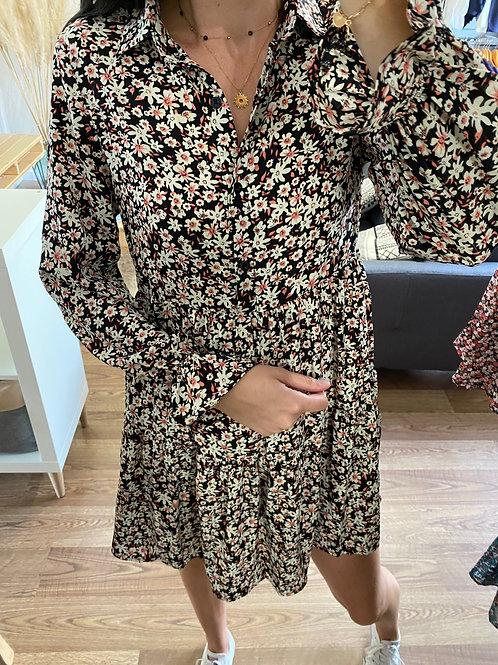 Robe courte col chemise