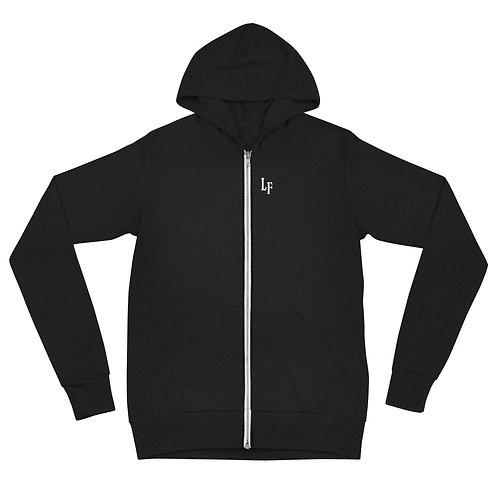 LF Unisex zip hoodie - Black