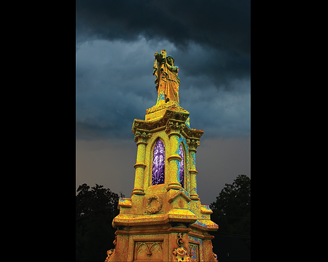 Stormy Tower in Yellow