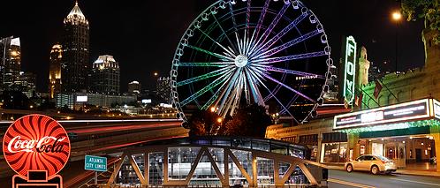 Atlanta Lights Up at Night