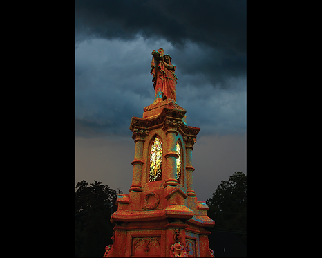 Stormy Tower in Red