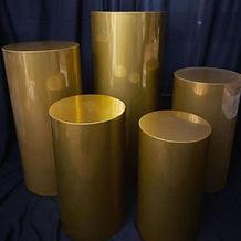 Metallic Gold Pedestals