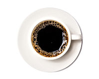 black coffee in a coffee cup top view  i
