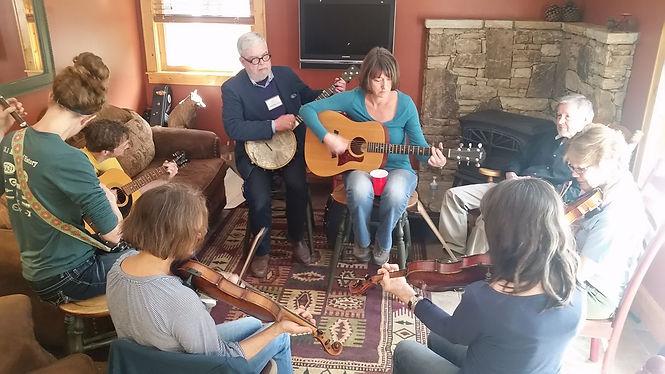 banjo fiddle frolic north carolina old time music jam retreat