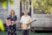 Frank & Allie landscape guitar banjo