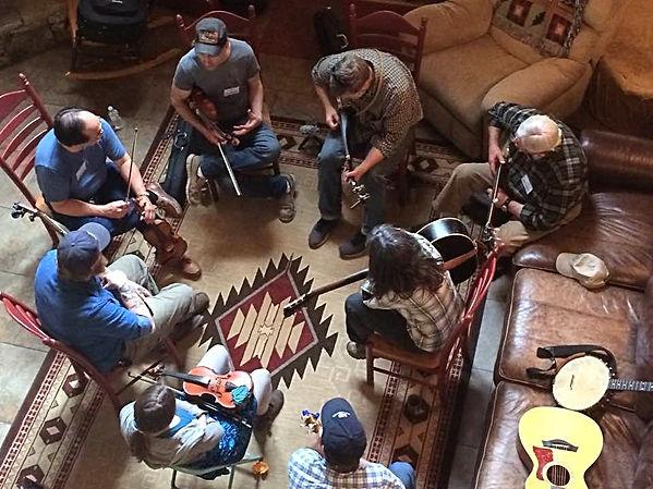 banjo fiddle frolic old time music retreat north carolina