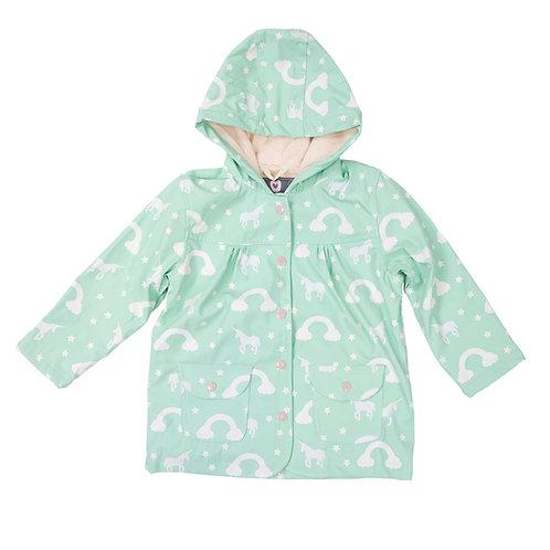 Korango Girls Colour Change Unicorn Raincoat