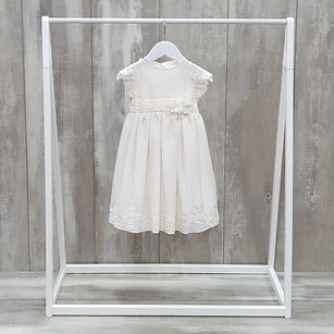 Simple silk with lace christening dress