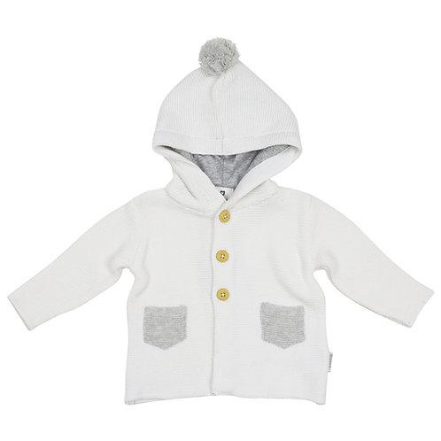 Korango Knit Jacket with Contrast Pockets